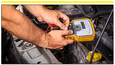 Mechanic Running Diagnostic on Vehicle